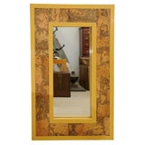 1960's Lacquer and Cork Patchwork Inset Mirror