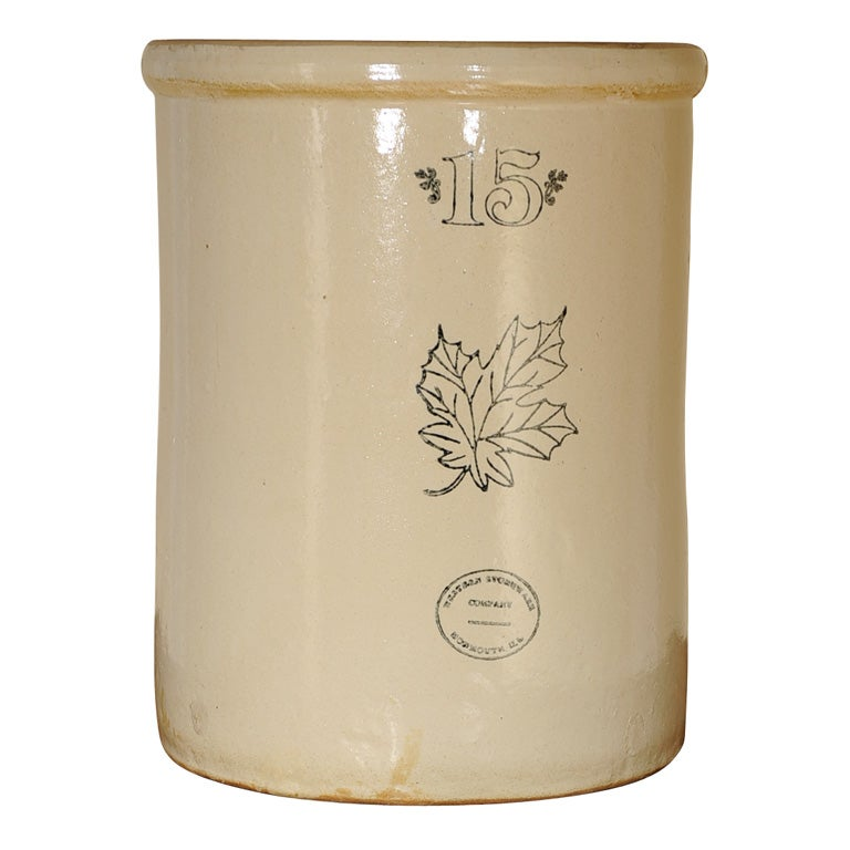 Vintage 15 Gallon Western Stoneware Co Crock At 1stdibs