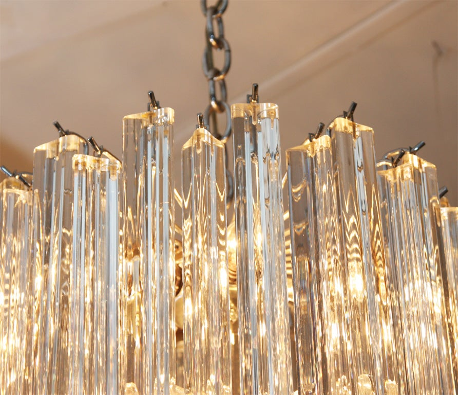 Lovely Murano Crystal Chandelier At 1stdibs