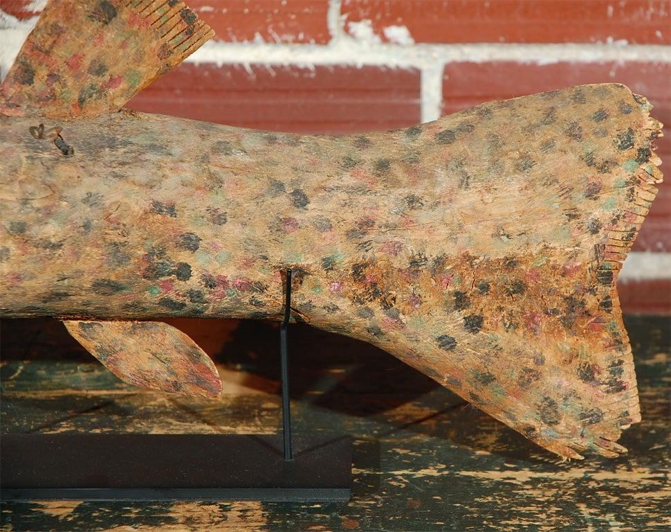 Folk Art Felipe Archuleta Carved Fish  For Sale