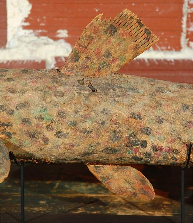 American Felipe Archuleta Carved Fish  For Sale