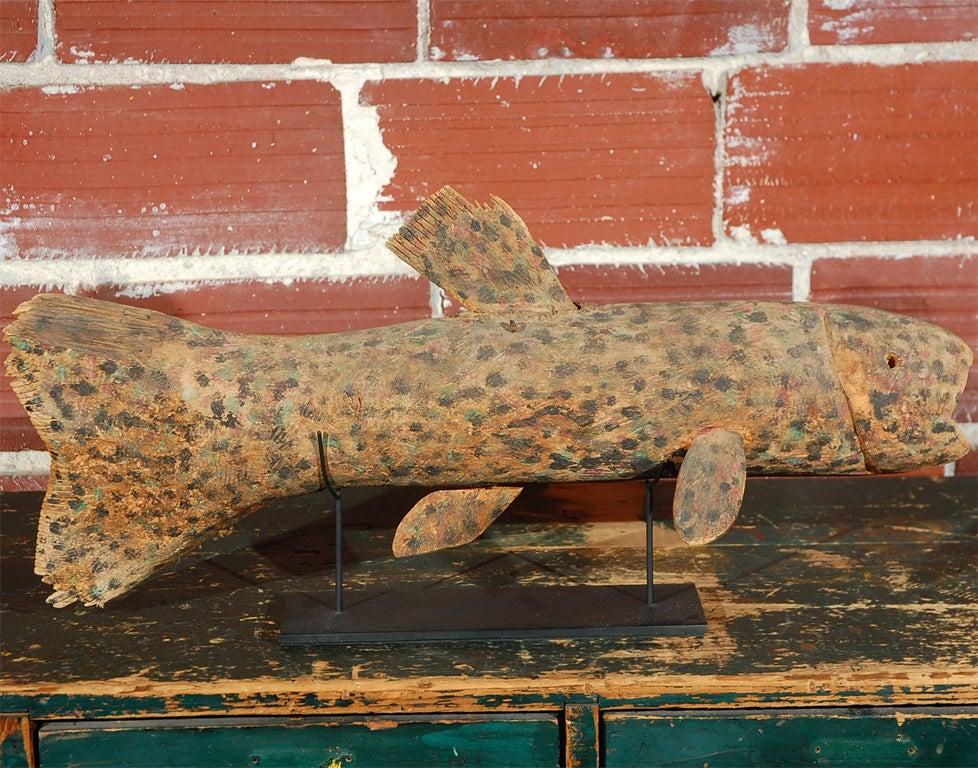 Late 20th Century Felipe Archuleta Carved Fish  For Sale