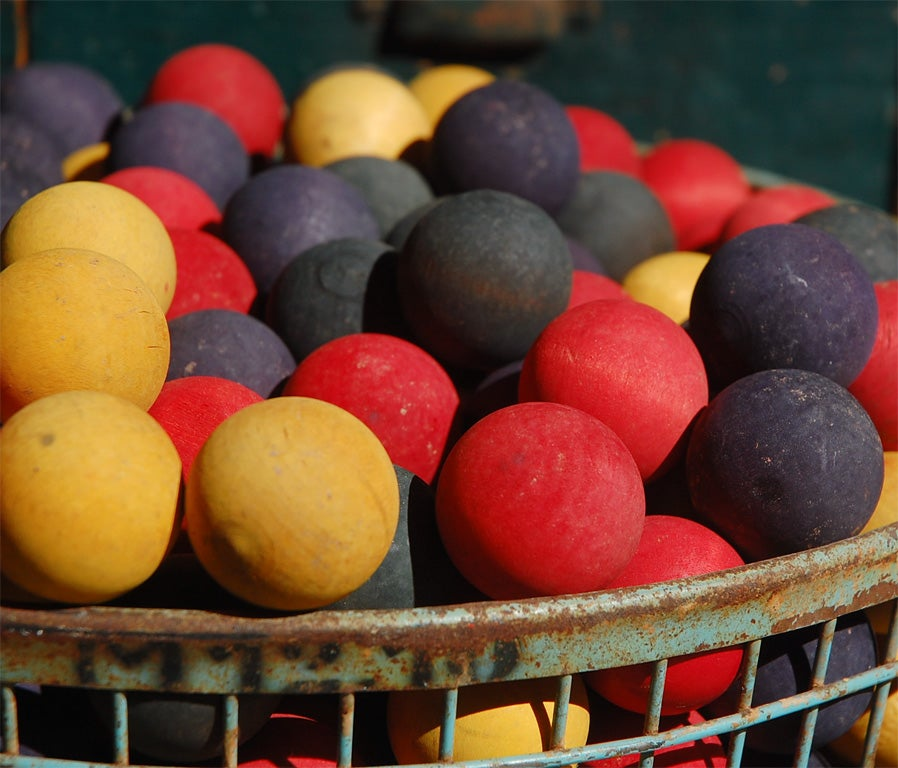 Collection of 50 Vintage Carnival Game Balls 2