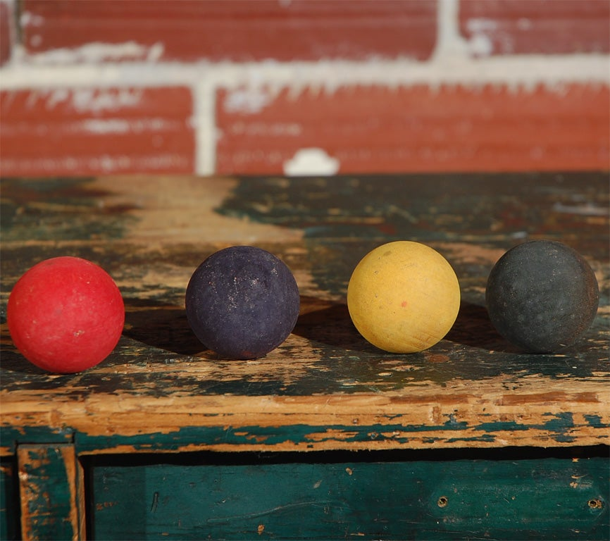 Collection of 50 Vintage Carnival Game Balls 3