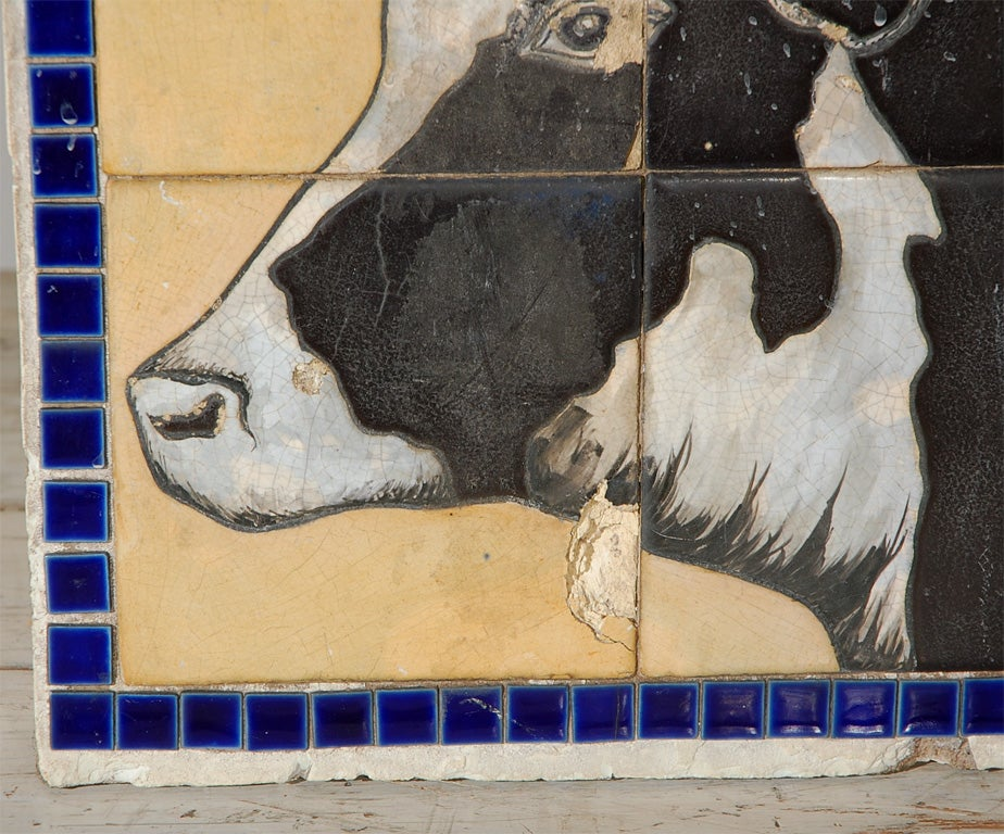 Architectural Fragment Cow Tile From Heartland Dairy At