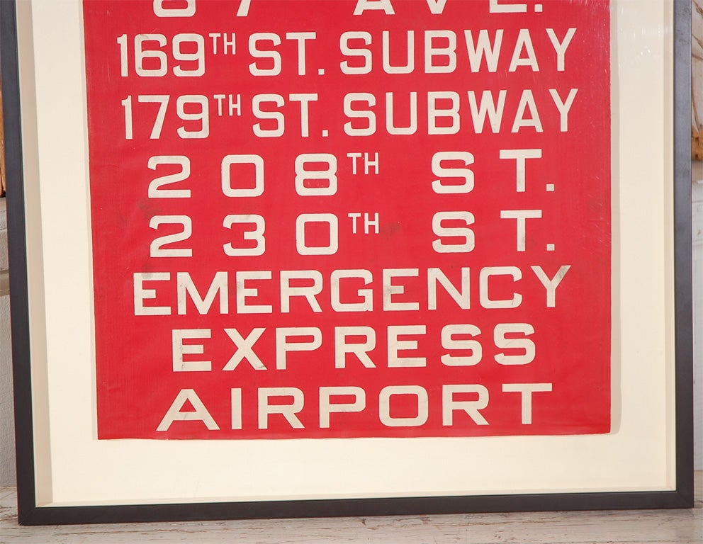 Unusual Red Framed New York Bus Destination Sign image 2