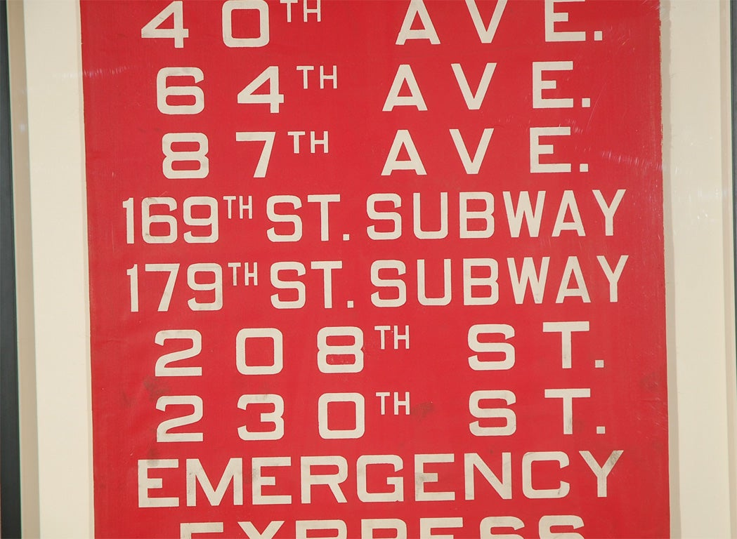 Unusual Red Framed New York Bus Destination Sign image 3