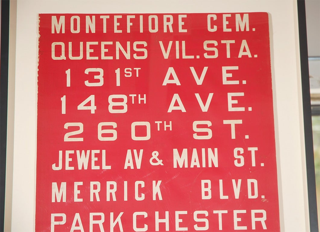 Unusual Red Framed New York Bus Destination Sign image 4