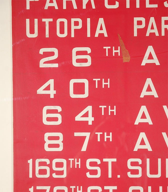Unusual Red Framed New York Bus Destination Sign image 5