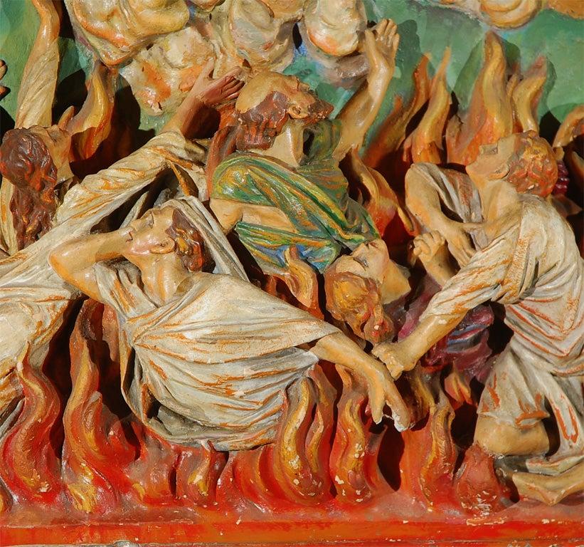 American Religious Chalkware Diorama For Sale