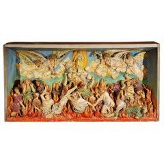 Religious Chalkware Diorama