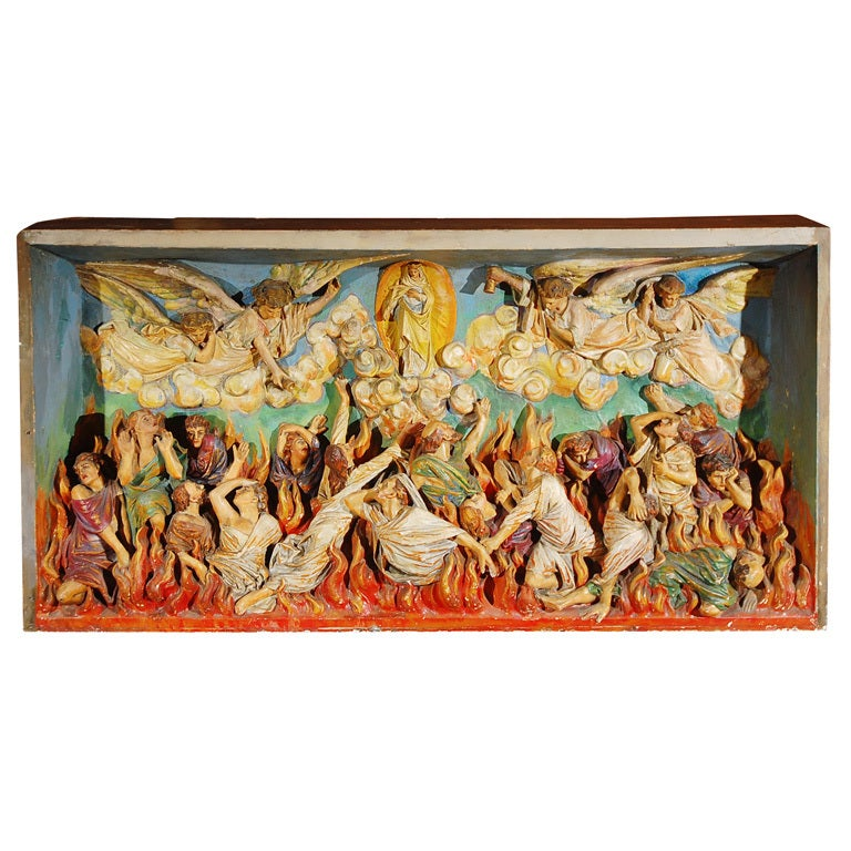 Religious Chalkware Diorama For Sale