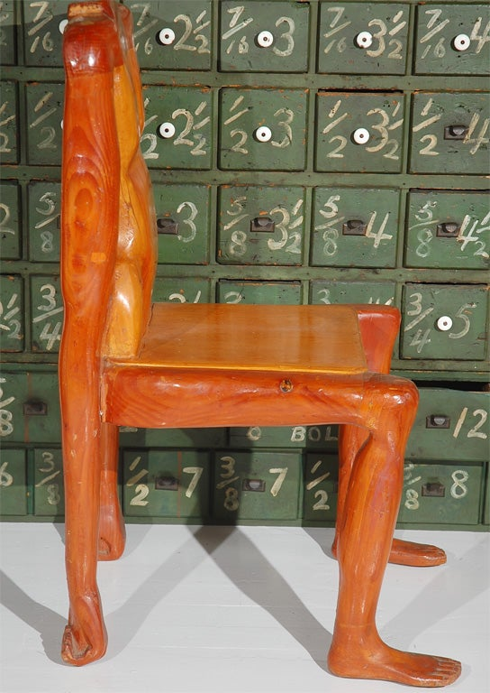 Quirky Human Form Chair For Sale At 1stdibs