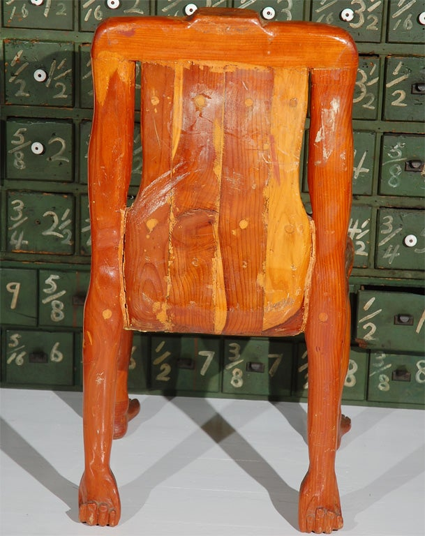 Quirky American Folk Art Human Form Chair For Sale 1