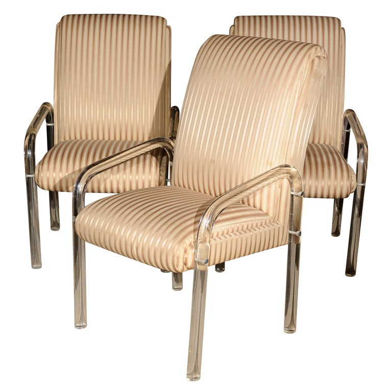 Set Of 6 Lucite Chairs 1970 S Signed Leon Frost At 1stdibs