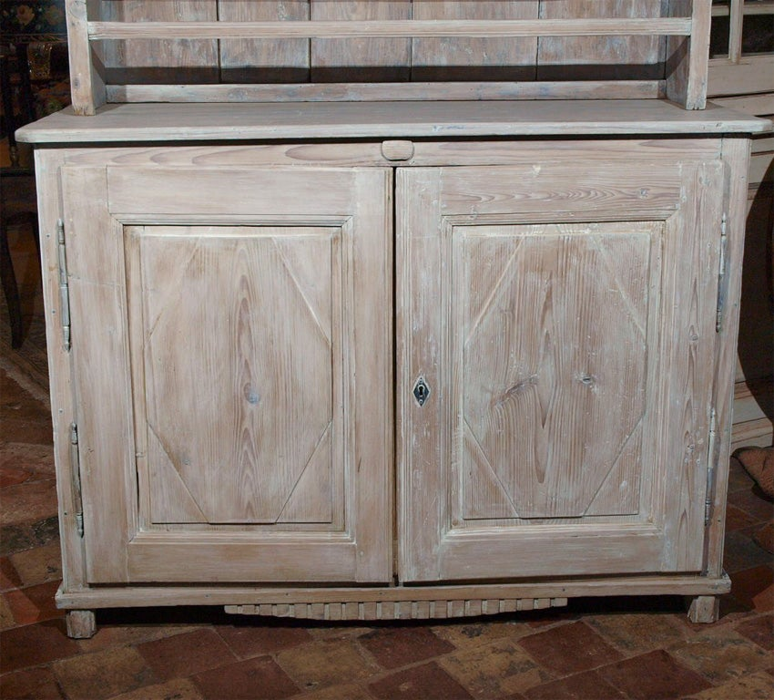 19th C White Washed French Pine Vaisselier At 1stdibs