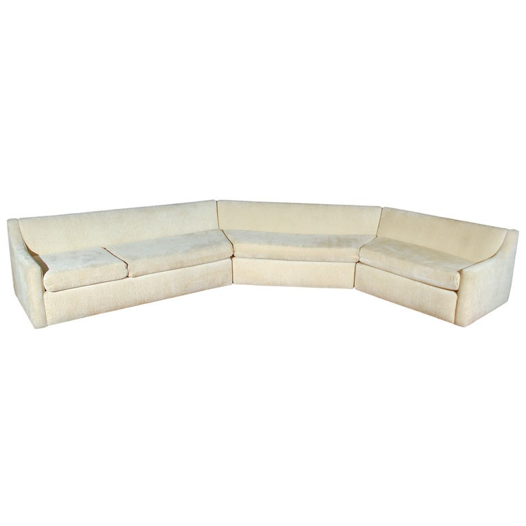Californian large scale chenille sectional sofa at 1stdibs for Large scale sectional sofa