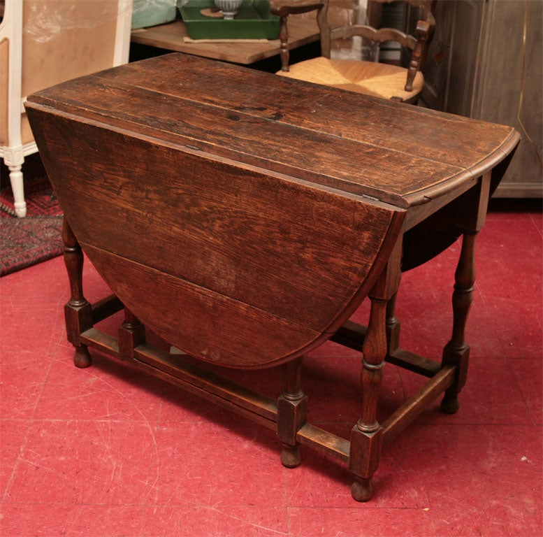 English Oak Gateleg Dining Table For Sale At 1stdibs