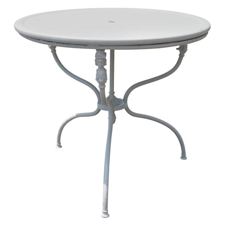 French Metal Garden Table At 1stdibs