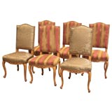 Set of 6 Louis XV Style Dining Chairs