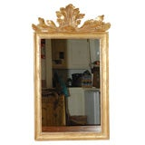 Carved Acanthus Leaf Topped Mirror C. 1900