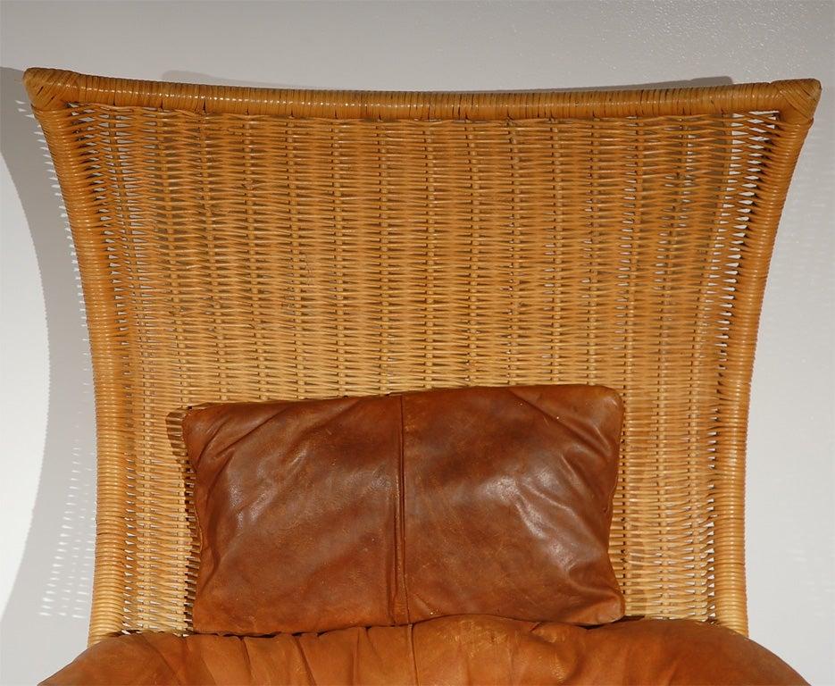 Wicker Swivel Easy Chair By Gerard Van Den Berg At 1stdibs
