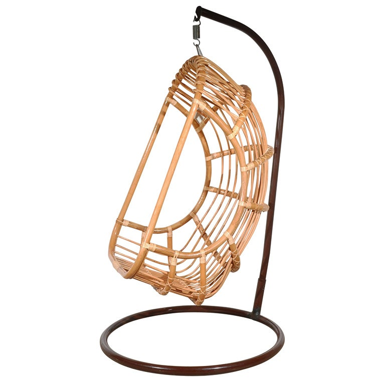 Rattan Hanging Outdoor Chair at 1stdibs