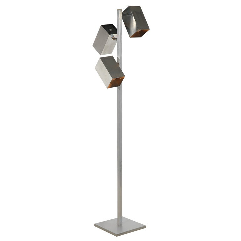 Vintage koch and lowy chrome floor lamp at 1stdibs for Tecton chrome floor lamp