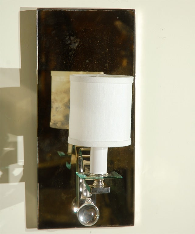 Large Glass Wall Sconces : Paul Marra Large Glass Ball Sconce at 1stdibs