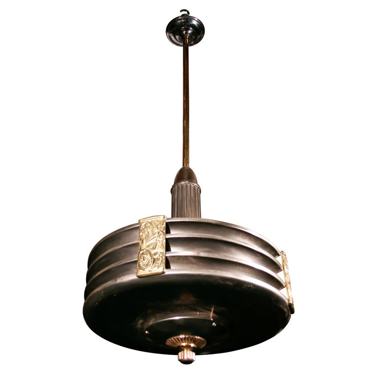 American Art Deco Ceiling Light Fixture At 1stdibs