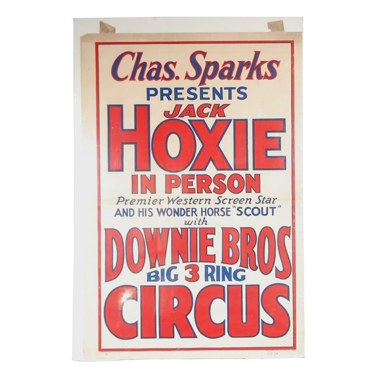Downie Brothers 1934 Circus Poster At 1stdibs
