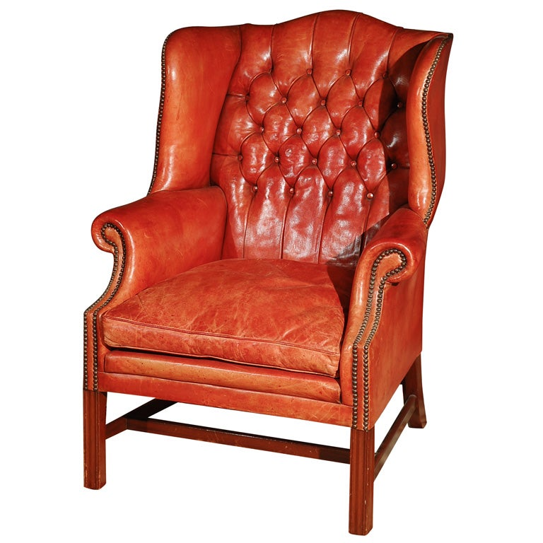 C 1920 30 Leather Studded Arm Chair At 1stdibs