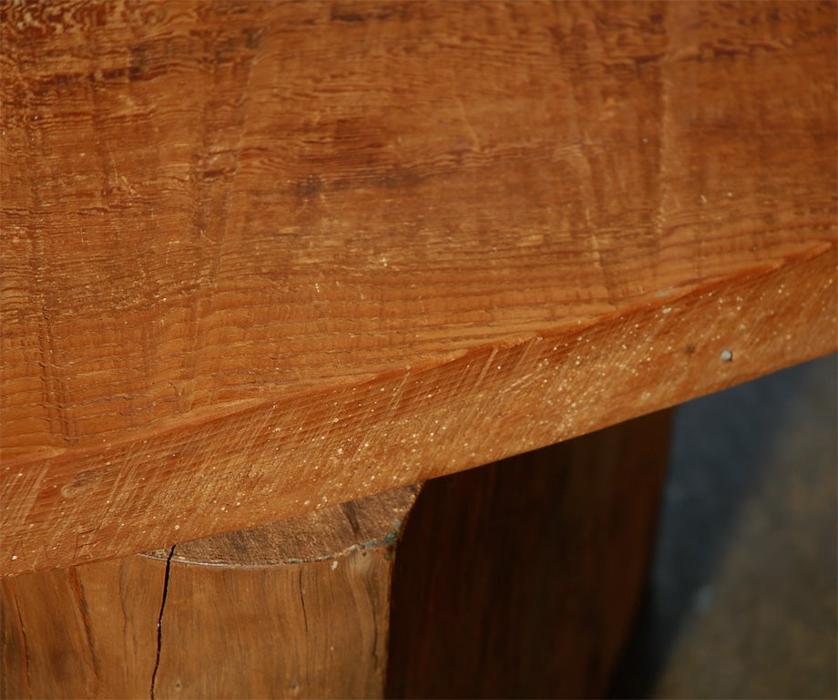 Redwood Log Sofa Table Orlando: Redwood Assemblage Console Table/desk By J B Blunk At 1stdibs