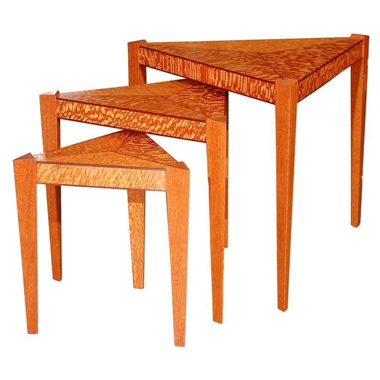 Set Of Hand Crafted Nesting Tables By Todd Ouwehand At 1stdibs