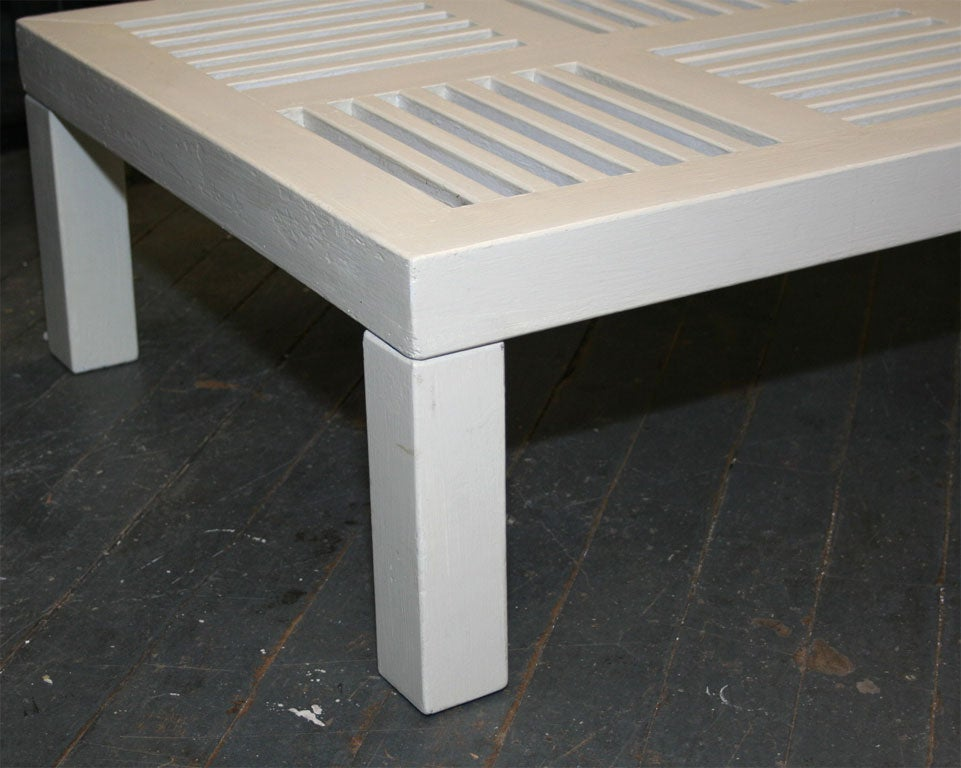 White Painted Rectangular Coffee Table By Robert Mallet Stevens At 1stdibs