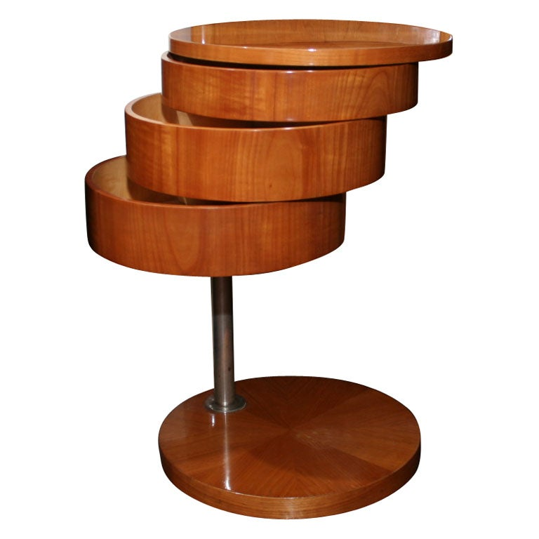 Schenk - Pearwood End Table by Schenk, German late 1920s