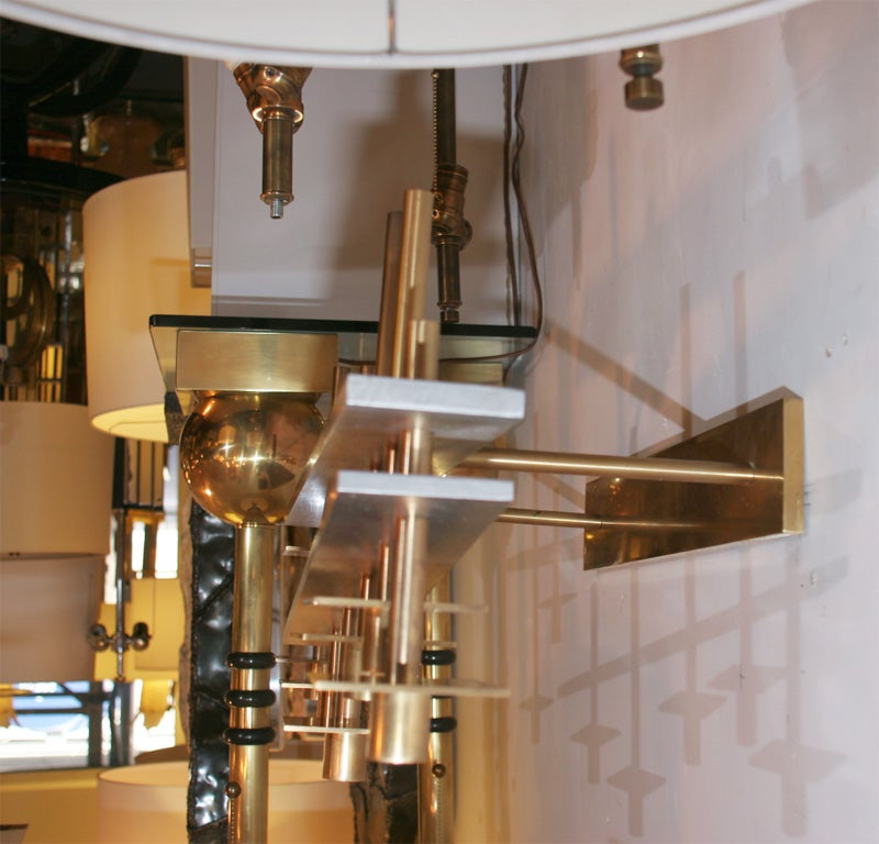 Pair of Architectural Wall-Mounted Candelabra For Sale 1