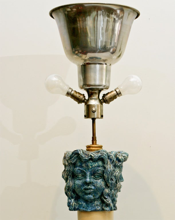 Maurice Jallot and Georges Jouve Floor Lamp at 1stdibs