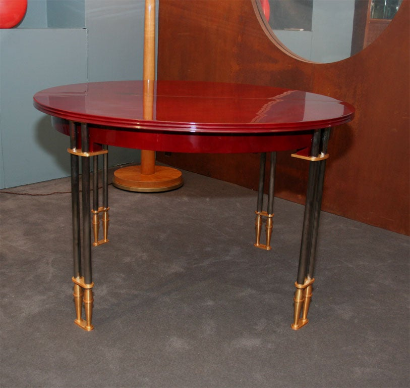 Exceptional Lacquer Dining Table By Leleu At 1stdibs