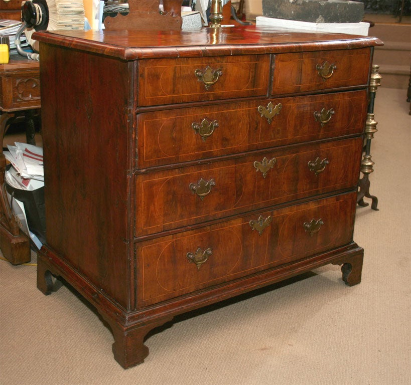William And Mary Yew Wood Veneered Chest Of Drawers For