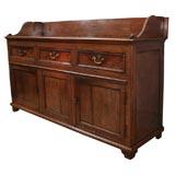 18th C English Cabinet Sideboard