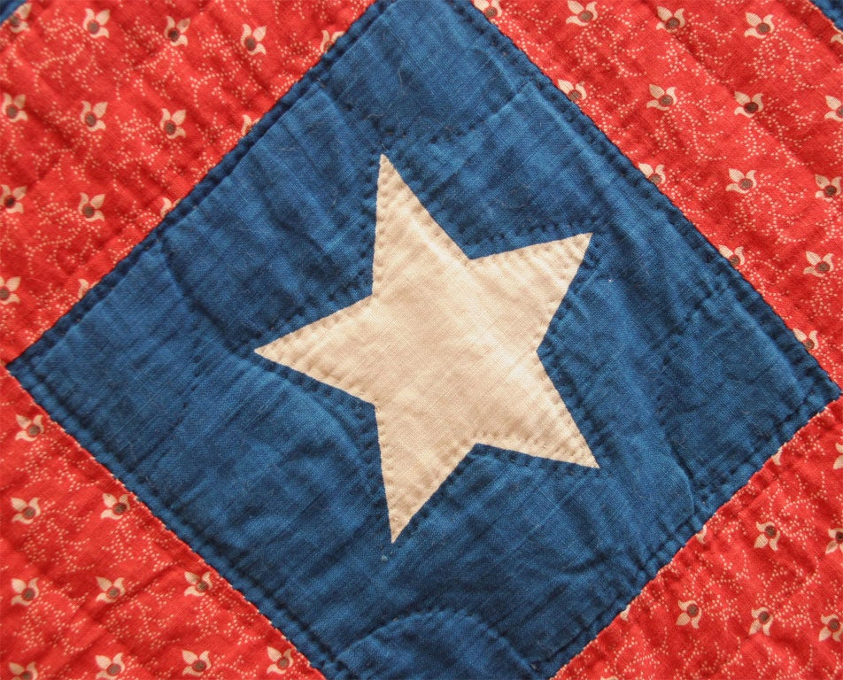 Antique Patriotic Quilt Stars And Stripes At 1stdibs