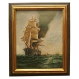 Nautical Painting:  Sailing Ship