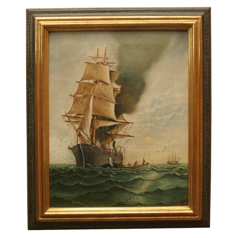 Nautical Painting:  Sailing Ship