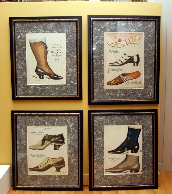 Set of Four Shoe Illustrations 2