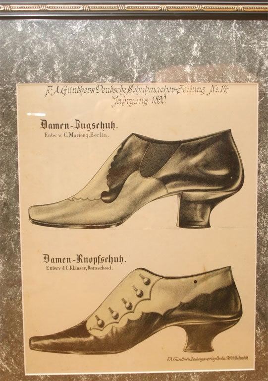 Set of Four Shoe Illustrations 7