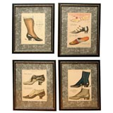 Set of Four Shoe Illustrations
