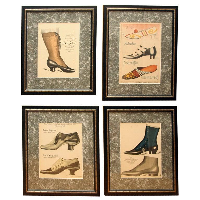 Set of Four Shoe Illustrations 1