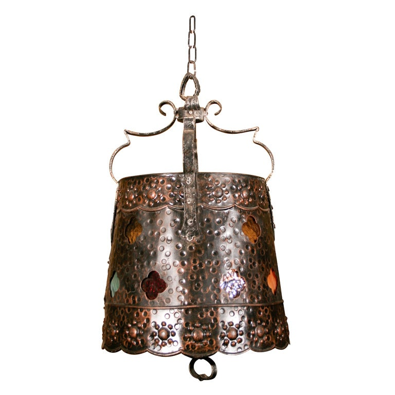 Arts and crafts light fixture at 1stdibs for Arts and crafts light