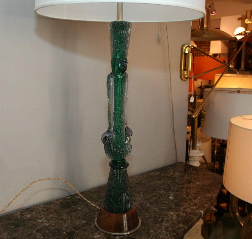 Italian Modernist Table Lamp Signed Seguso For Sale